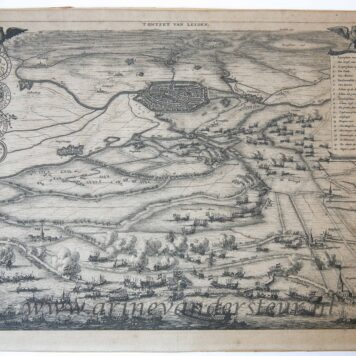 [Cartography, etching and engraving] 'T ONTZET VAN LEYDEN, published between 1679 and 1684.