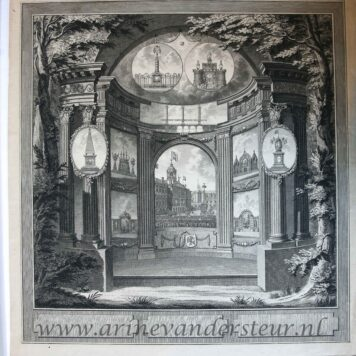 [Antique print, etching, Amsterdam] Monument for the Alliance festival in Amsterdam, published 1795.