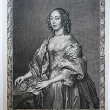 [Antique print, engraving] RACHEL MIDDLESEXIAE COMITISSA (Rachel, Countess of Middlesex), published c. 1660.