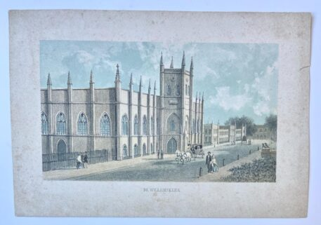 [Lithography, Lithografie, The Hague] De Willemskerk in 's-Gravenhage (THe Hague, Den Haag), 1 p, published around 1850.