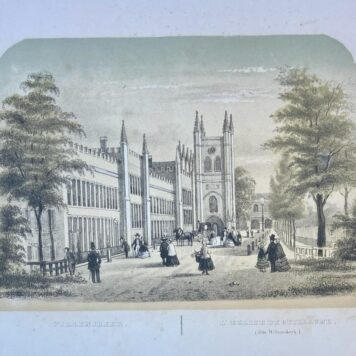 [Lithography, Lithografie, The Hague] Willemskerk I l'Eglise de Guillaume (dite Willemskerk) (The Hague, Den Haag), 1 p, published around 1850.
