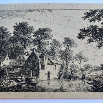 Landscape with watermills