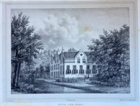 [Lithography, Lithografie, The Hague] Huis ter Noot (Bezuidenhout, Den Haag), 1 p, published 19th century.