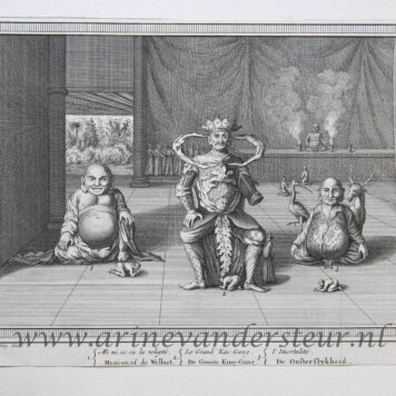 [Antique print, etching, China] PAGODES ET STATUES, published 1749.