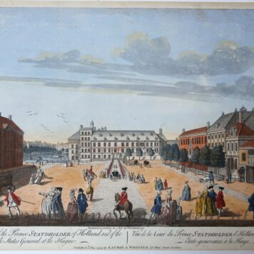 [Handcolored optical view, The Hague] A View of the Court of the Prince Statholder of Holland, and of the Assembly of the States General, at the Hague, published 1794.