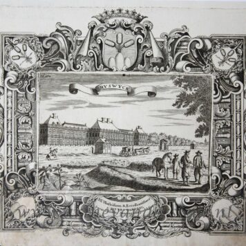 [Antique print; etching and engraving, Rijswijk] RYSWYCK, published between 1681-1735.