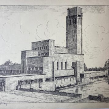 [Modern print, reproduction, The Hague] Gemeentemuseum Den Haag. 1 p.