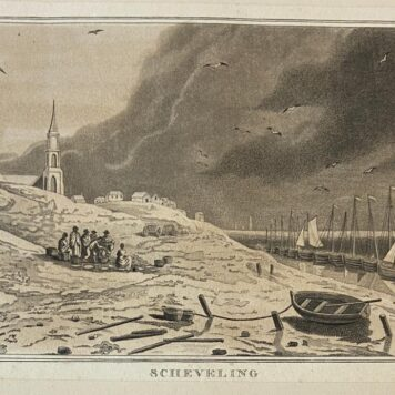 [Antique print, etching, The Hague] Scheveling (Scheveningen).