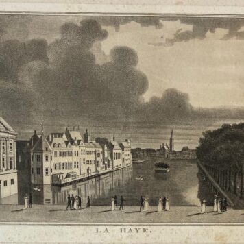 [Antique print, etching, The Hague] La Haye (Den Haag, 's-Gravenhage).