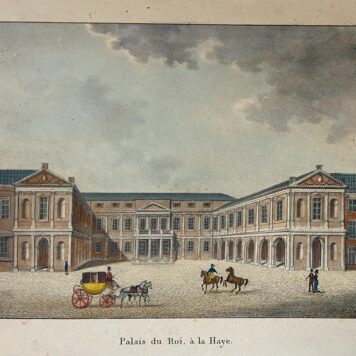 [Coloured Lithography, gekleurde lithografie, The Hague] Palais du Roy à La Haye (Paleis Noordeinde in Den Haag), 1 p., published in 1870.