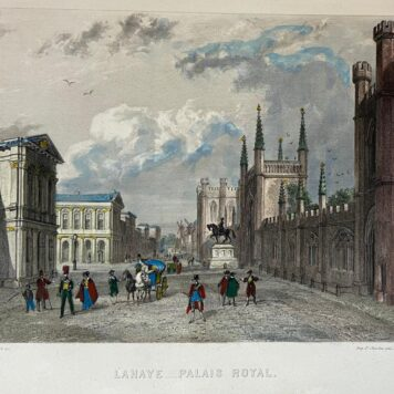 [Coloured lithography, gekleurde lithografie, The Hague] La Haye, Palais Royal (Paleis Noordeinde), 1 p, published 19th century.
