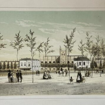 [Lithography, Lithografie, The Hague] Het Willemspark (The Hague, Den Haag), 1 p, published around 1860.