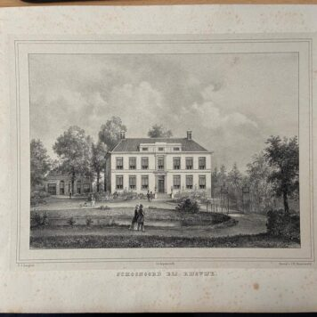 [Lithograph, lithografie, The Hague] Schoonoord te Rijswijk, published 19th century, 1 p., published 19th century.