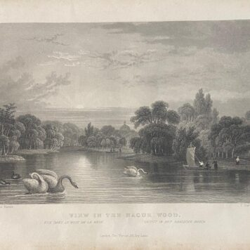[Lithography, lithografie, The Hague] View in The Hague Wood (Gezicht op het Haagse Bos), 1p, published 19th century.