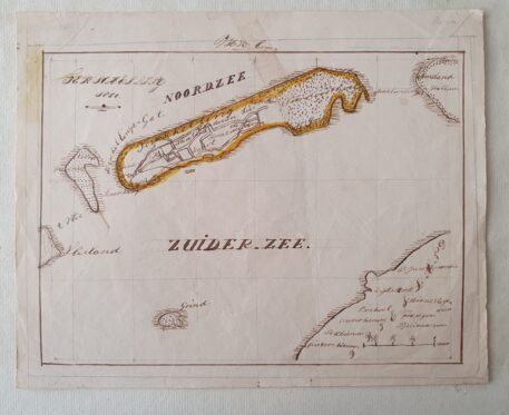 [Cartography; drawing] Map of the island of Terschelling, dated 1850.
